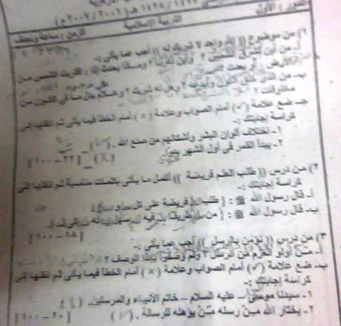 امتحانات قران كريم وتربية دينية اسلامية للشهاده الابتدائيه الازهريه موقع الدكتور محمد رزق 13304511768