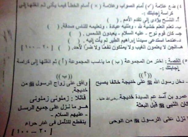 امتحانات قران كريم وتربية دينية اسلامية للشهاده الابتدائيه الازهريه موقع الدكتور محمد رزق 133045117712